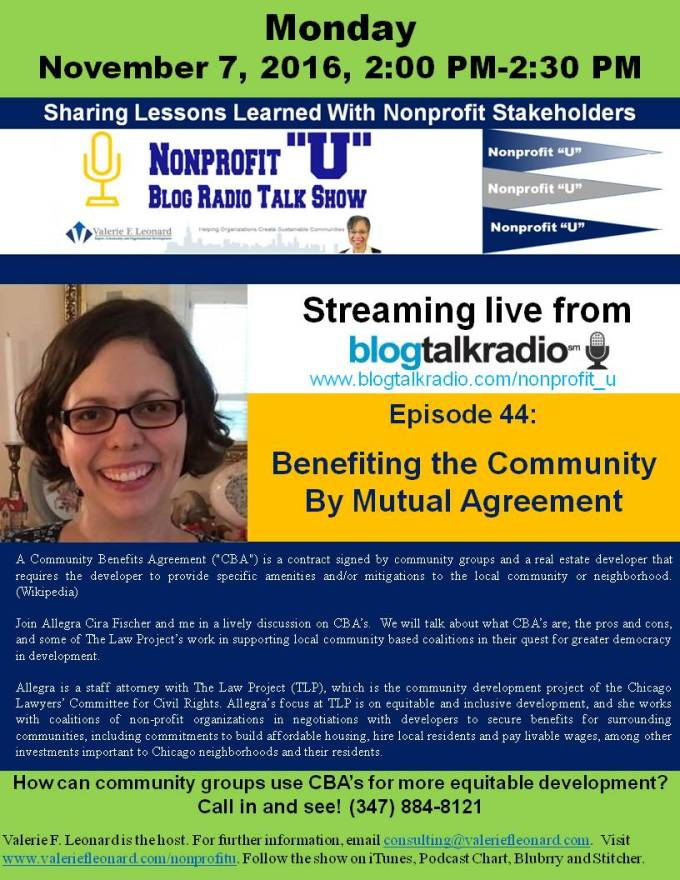 Benefiting The Community By Mutual Agreement Valerie F Leonard